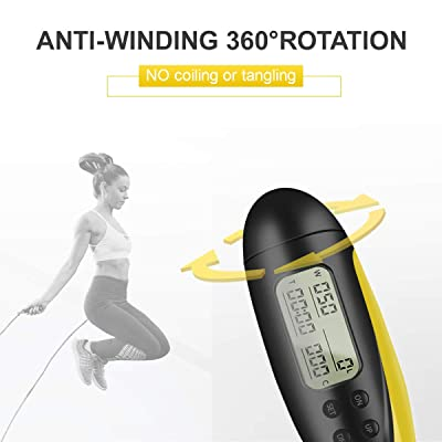 Training Ropeless Skipping Rope for Fitness Adults Kids Cordless Jumping Rope