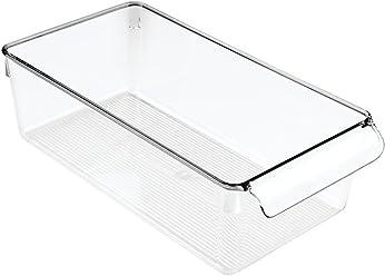 InterDesign Linus Pullz Kitchen Pantry Storage Organizer – Food Container Drawer, Clear, Medium
