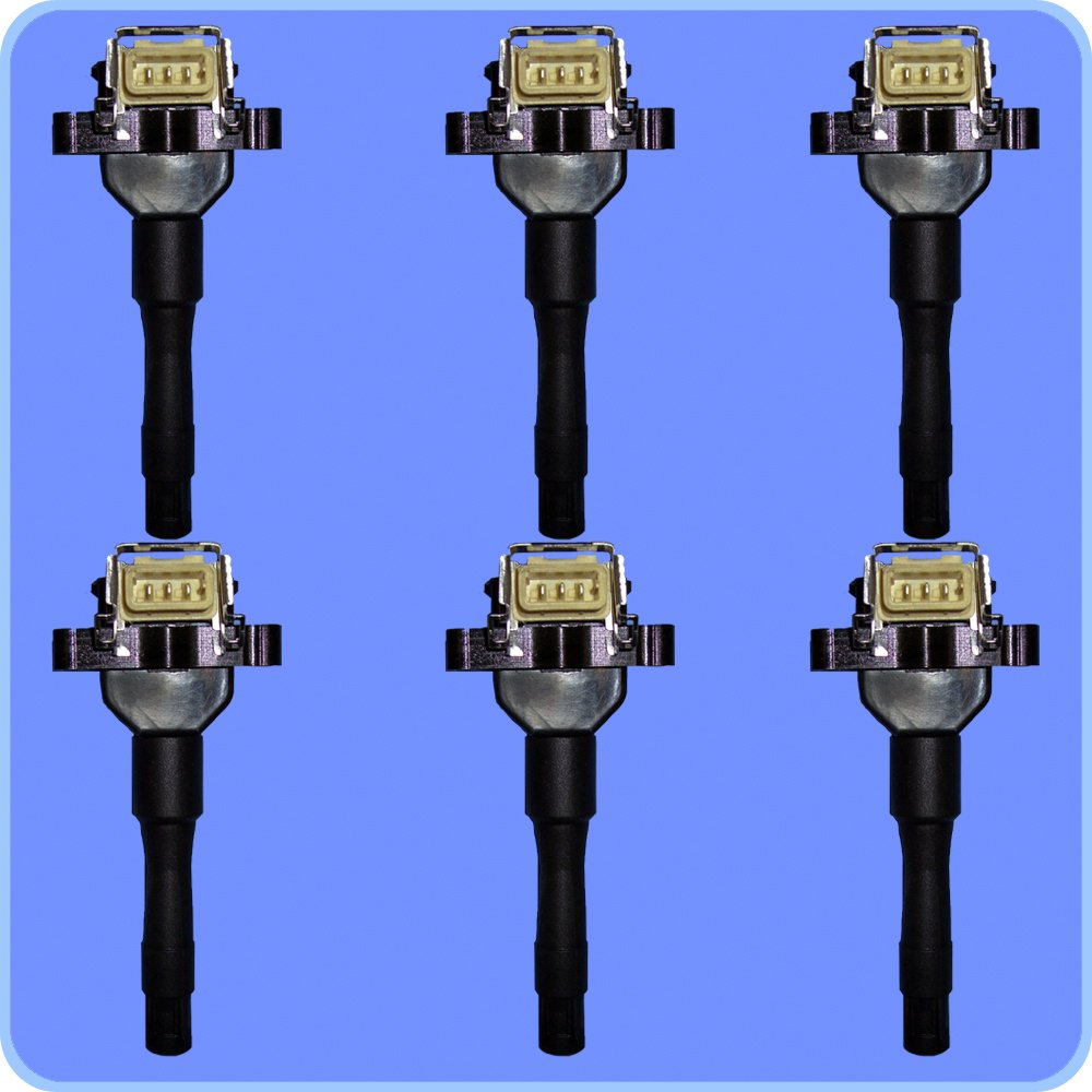 New AD AutoParts High Perofrmance Ignition Coil Set of 6 For BMW Vehicles UF226 1788154 E564 by AD Auto Parts