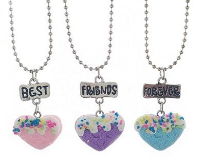 nueva estilos dd350 a8706 Fengteng 3 piezas BFF Corazón Mejores amigos Por sienpre ...