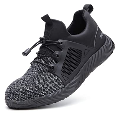 TICCOON Steel Toe Shoes Work Safety Shoes for Men and Women Lightweight Industrial & Construction Shoe: Shoes
