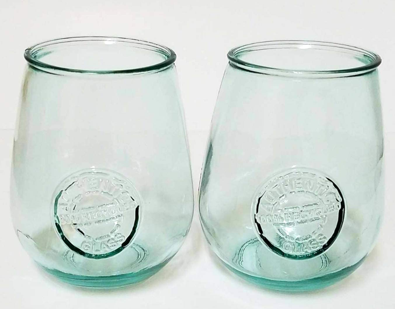 6 San Miguel Goblets Clear Glasses 100/% Recycled Glass Authentic 650cc 22oz