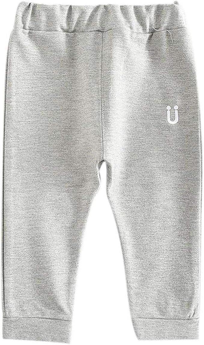 Baywell Pantalones de chándal con cinturón elástico bordado con ...