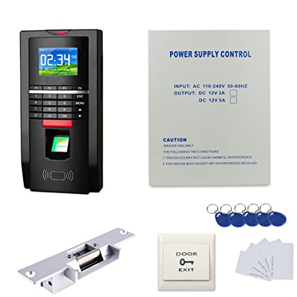 Amazon Biomertric Color Fingerprint Door Entry System Kits