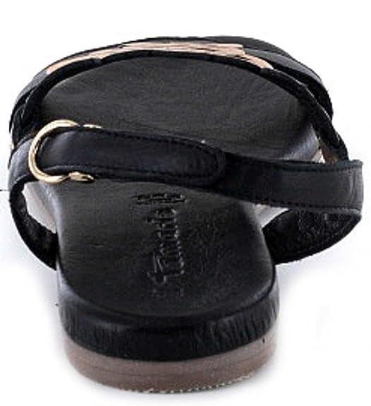 Tamaris Damen Sandaletten Schwarz/Rotgold, Schuhgröße:EUR 37