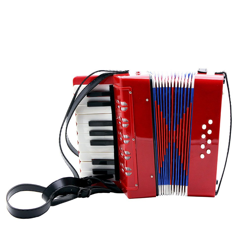 Andoer Kids Children 17-Key 8 Bass Mini Small Accordion Educational Musical Instrument Rhythm Band Toy