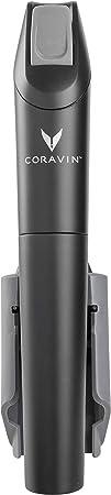 Coravin – Model Three Sistema de Preservación de Vino – 2 Cápsulas de Gas y Tapón de Rosca – Color Negro
