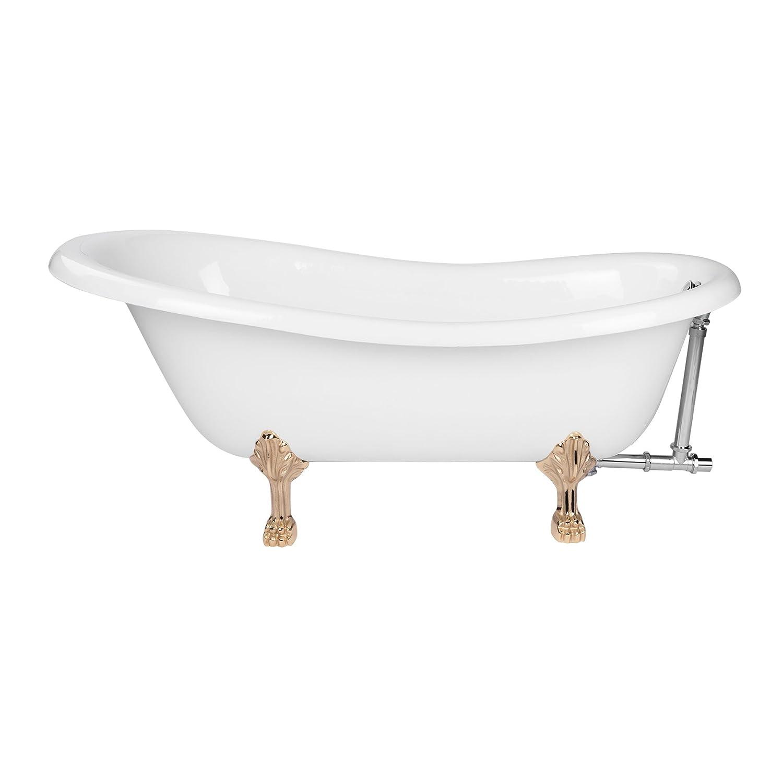 Maykke Audrey 67 Traditional Oval Clawfoot Tub Elegant Art Deco