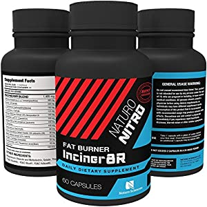 Inciner8R Fat Burner Supplement Designed for Weight Loss and Mental Focus; Pre Workout or Breakfast Pills for Day-long Appetite Control and Fat Loss; Diet Pills for Men and Women - 60 Servings by Naturo Sciences