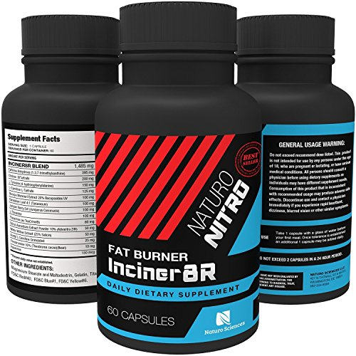 Inciner8R Fat Burner Supplement Designed for Weight Loss and Mental Focus; Pre Workout or Breakfast Pills for Day-long Appetite Control and Fat Loss; Diet Pills for Men and Women – 60 Servings 61Qb1jAOXrL