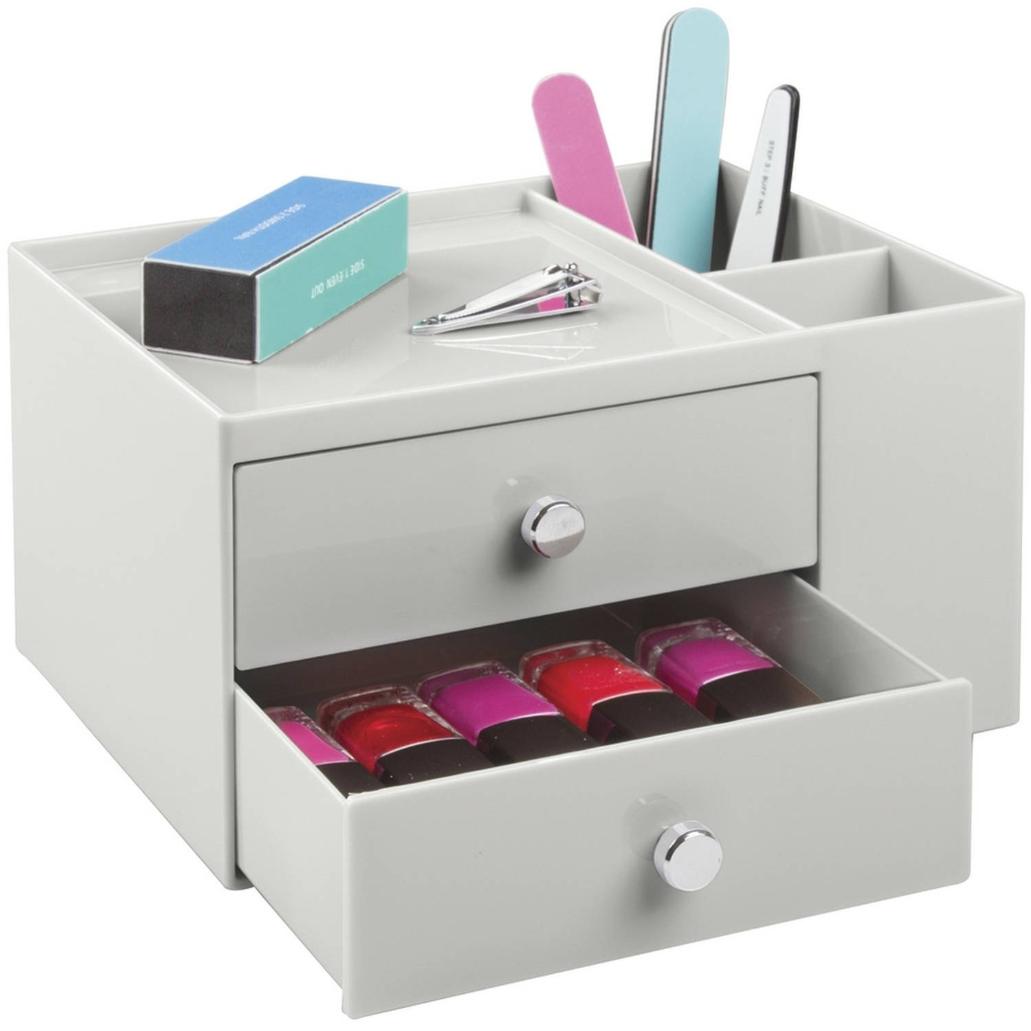 Interdesign 2 Drawer Cosmetic Organizer For Makeup And Beauty Products, Light