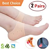 NAOR Gel Heel Protectors for Plantar Heel Pain Honeycomb silicone breathable Advanced Material Technology Comfortable Durable Rapid Heel Pain Relief Reusable
