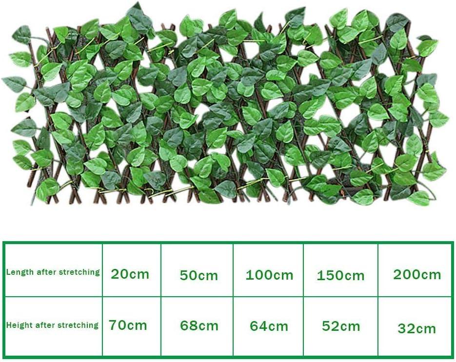 panneau haie cl/ôture en bois r/étractable avec plantes artificielles /écran de confidentialit/é pour balcon jardin d/écoration murale ext/érieure int/érieure Treillis de criblage extensible 1pc: 40cm