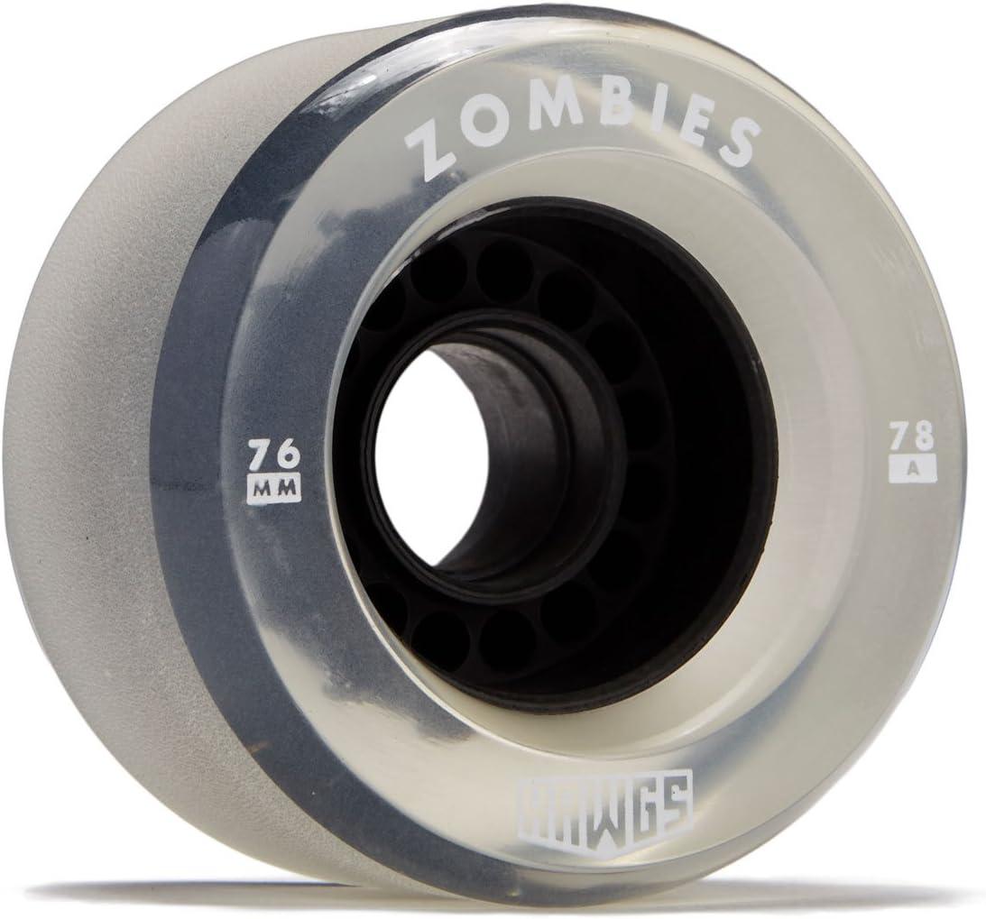 78a Black 76mm Hawgs Clear Zombie Longboard Wheels