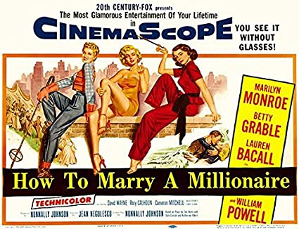 Amazon.com: How to Marry A Millionaire - 1953 - Movie Poster ...