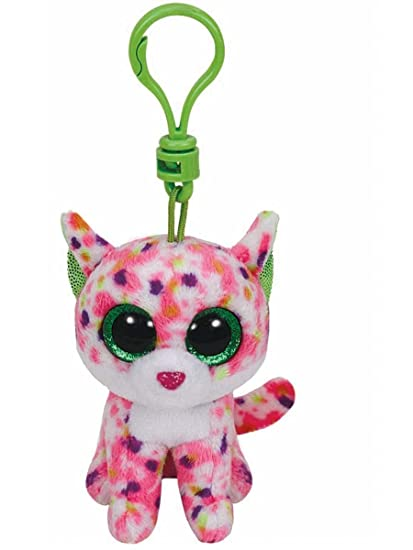 Ty Beanie Boos Sophie The Pink Cat Clip 3 Keychain