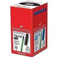 Caneta Esferográfica Trilux 035 Ponta Fina 50 Unidades, Faber-Castell, Preto
