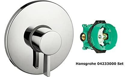 Hansgrohe 04233000 S Pressure Balance Trim With Ibox Universal Plus Rough In Valve With Service Stop Chrome
