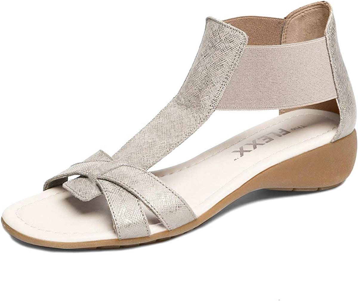 The Flexx Damen Band Together Sandalen, Canna Saff