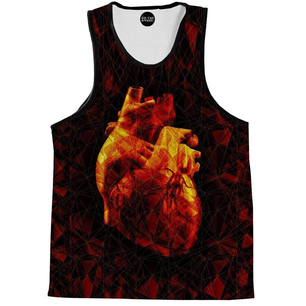 On Cue Apparel Geometric Heart Tank Top