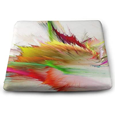 Sanghing Customized The Colors Fancy Paint Background Consists of Fractal Color Texture 1.18 X 15 X 13.7 in Cushion, Suitable for Home Office Dining Chair Cushion, Indoor and Outdoor Cushion.: Home & Kitchen