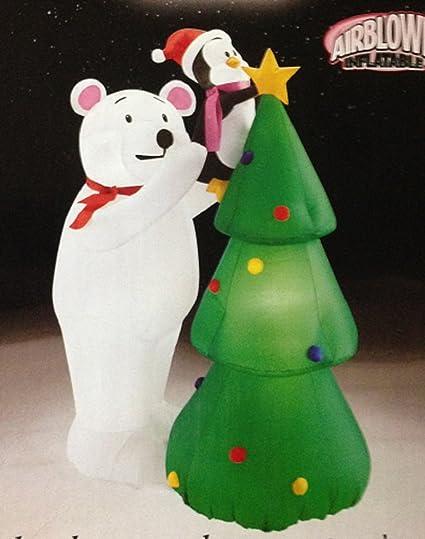 Amazon.com: Navidad Hinchable 4 ft Tall Oso Polar y Pingüino ...