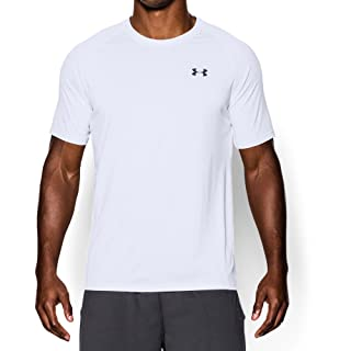 Under Armour Men's Tech Short Sleeve T-Shirt, White /Black, X-Large
