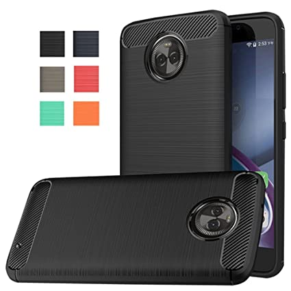 motorola x4. moto x4 case, dretal [shock resistant] flexible soft tpu brushed anti-fingerprint motorola