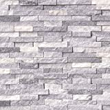 Alaskan Gray Splitface Interlocking Pattern Marble Mosaic Tile