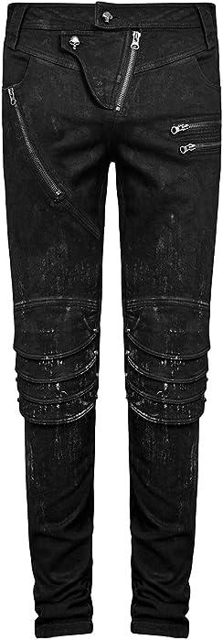 Punk Rave Mens Dieselpunk Tank Top Vest Distressed Black Gothic Sleeveless Tee