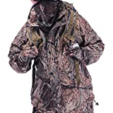 Pinklily Men's Waterproof Comfortable Hooded Softshell Jacket And Pants Camouflage XXL