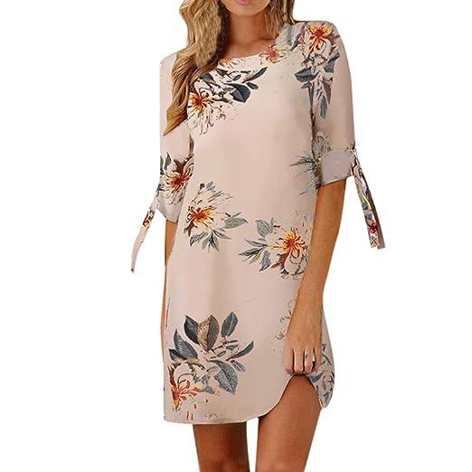 Amazon Com Totod Womens Dress Casual Elegant Floral Print Bowknot