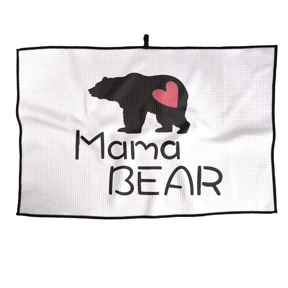 IRON1974 ゴルフタオル Mama Bear スポーツタオル 23x15インチ ジムプレーヤータオル   B07JJ995XB