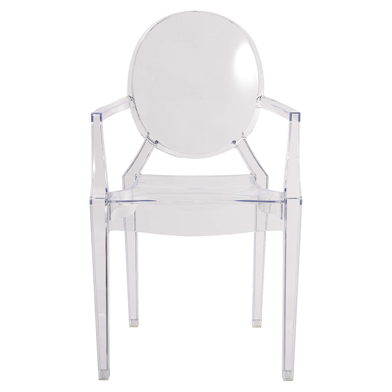 Set di 2 sedie Damiware Spirit Smoke Ghost Sedia per Sala da Pranzo Poltrona Design Moderno Transparente