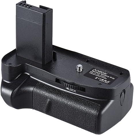 Andoer - Empuñadura (Grip) Vertical Doble para baterías LP-E10 ...