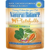 Natural Balance Platefulls Grain Free Indoor Cat Food, Chicken And Pumpkin Formula In Gravy, 3-Ounce Pouches (Pack Of 24) For Sale