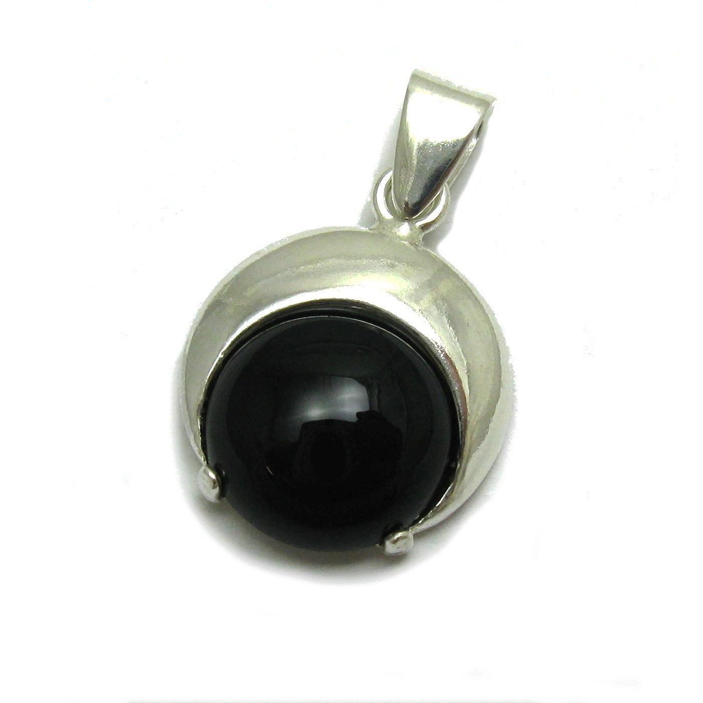 Silber anhä nger mit natü rlichen schwarzen Onyx 925 EMPRESS PE001279