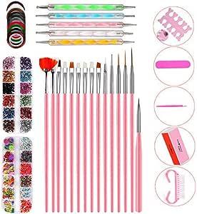 10 Piece Set Acrylic Nail Kit, Nail Powder Glitter Brush Nail Art Tools Kit Set, False Nail Tips Nail Art DIY Decoration Tools