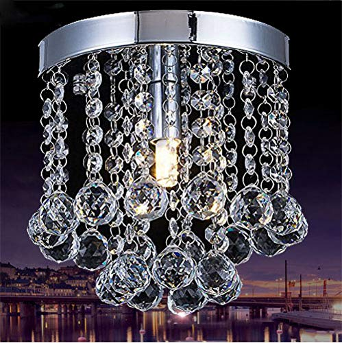 Chandelier Crystal Lighting,Modern Flush Mount Ceiling Light,Rain Drop Pendant Ceiling Lamp for Hallway Suitable for Dining Room,Banquet Hall H7.3 X W7.9 by Floodoor (Image #6)