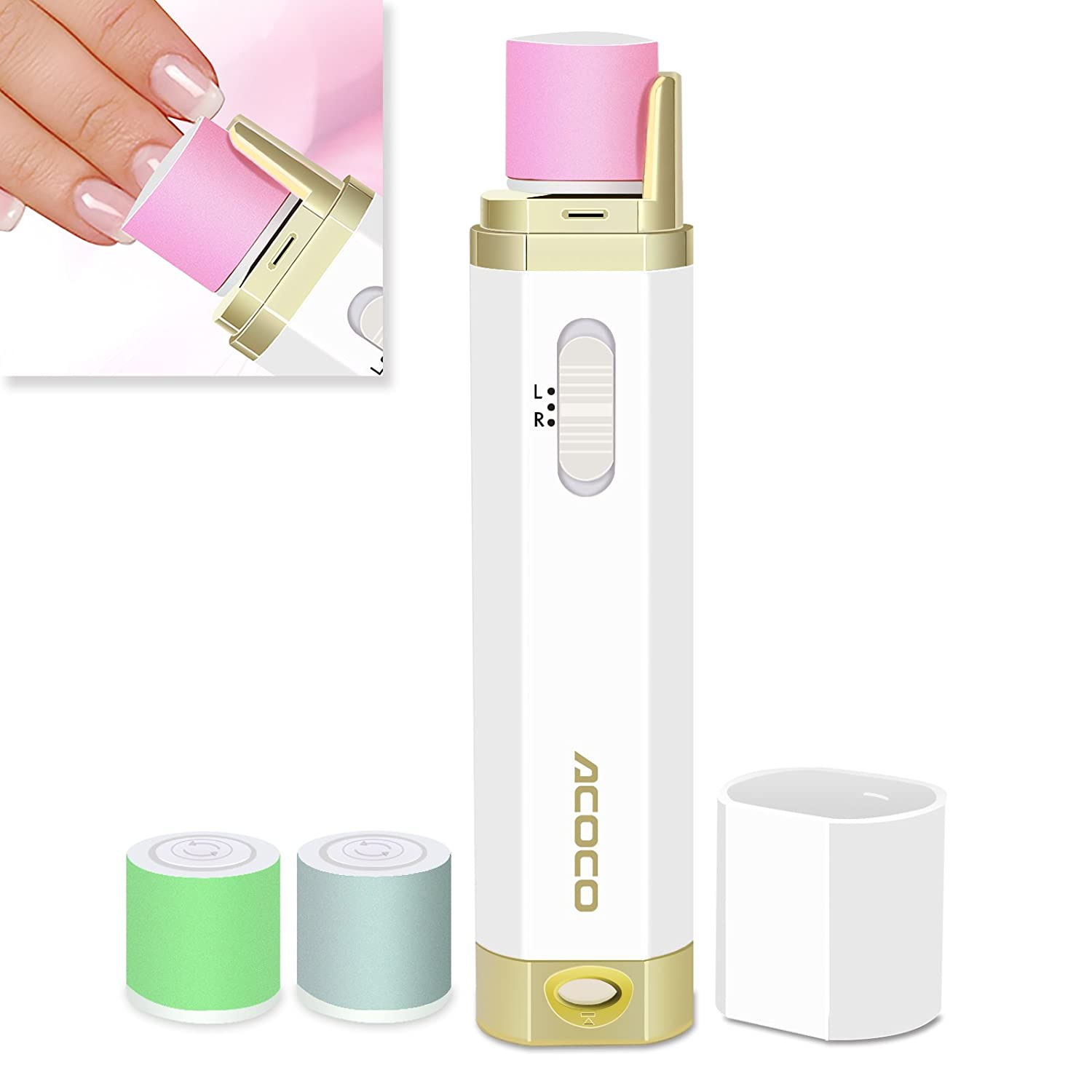 Amazon.com: ACOCO Perfect Electronic Nail Care System, Nail Buffer ...