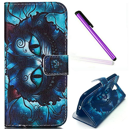 Samsung Galaxy S4 Case,EMAXELER Stylish Wallet Case [Kickstand Flip Case][Credit Cards Slot][Cash Pockets] PU Leather Flip Wallet Case with Stand For Samsung Galaxy S4--Cat