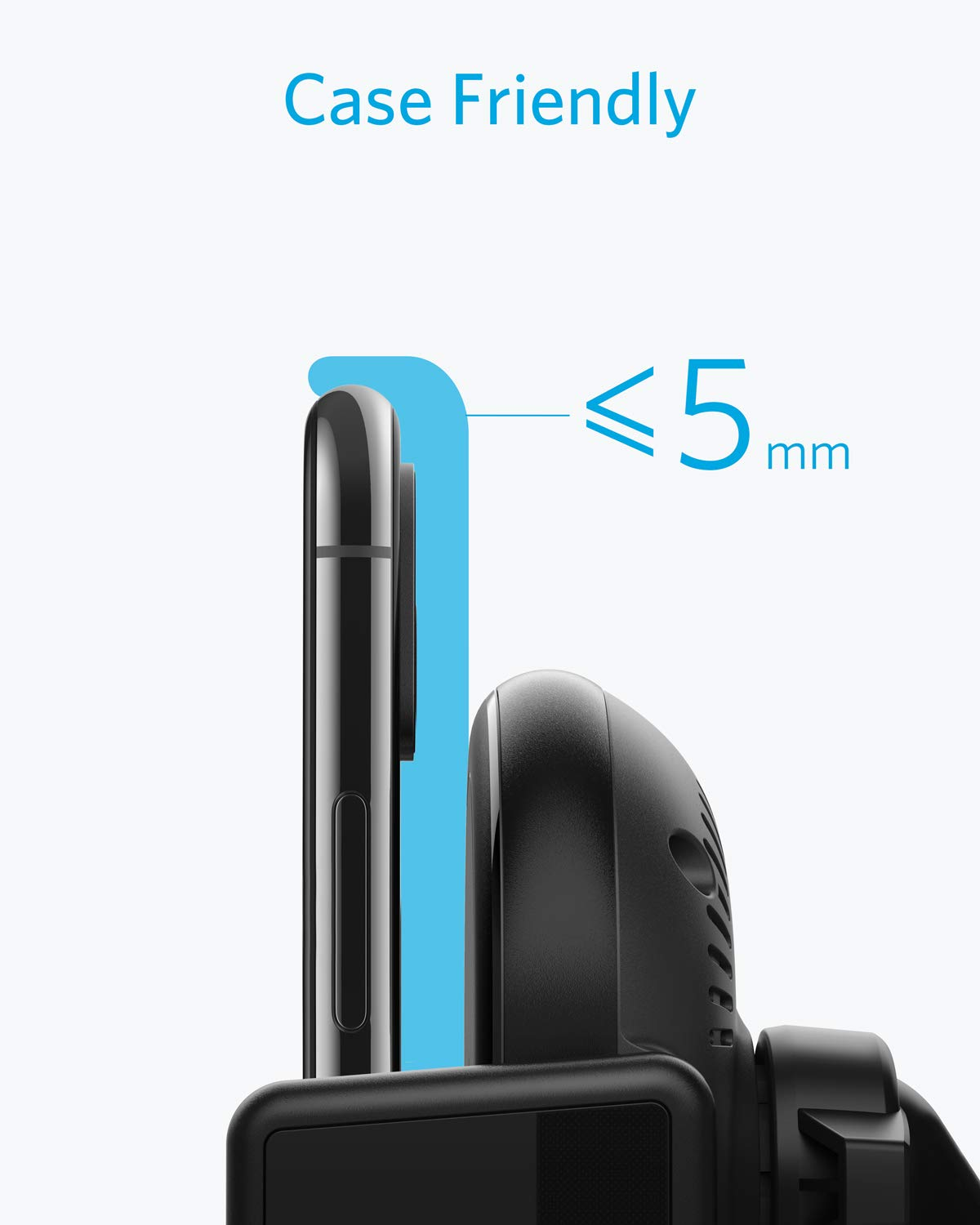 Anker PowerWave Fast Wireless Car Charger with Air Vent Phone Holder, Qi-Certified, 7.5W Fast Charging iPhone Xs Max/XR/XS/X/8/8 Plus, 10W for Galaxy S9/S9+/S8/S8+ (Quick Charge Car Charger Included) by Anker (Image #7)