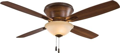 Minka-Aire F533-DK Mojo II Flush Mount 52 Inch Ceiling Fan Pull Chain