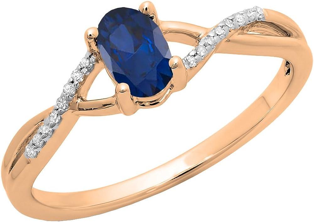 Dazzlingrock Collection 10K 6X4 MM Mesa Mall Gemstone Brid Max 75% OFF Diamond White