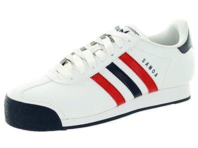 1e5538cf91105 Amazon.com | adidas Originals Samoa Mens Soccer Shoes White/Navy/Red ...