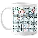 三角関数の数式の科学計算フィギュアクラシックマグカップ白陶器セラミックカップギフトミルクコーヒーで350 mlのハンドル