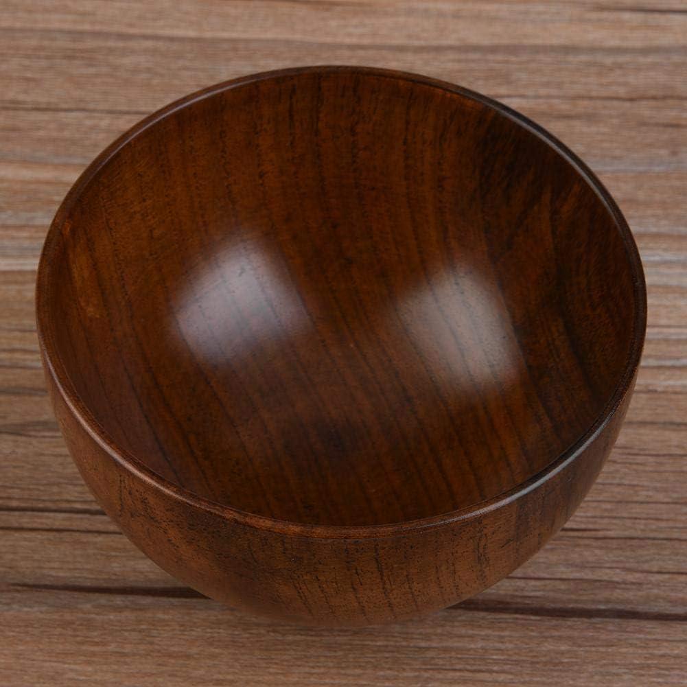 Bol en Bois R/ésistant /à la Chaleur 3 Tailles 11cm Saladier en Bois pour Riz Soupe Dessert