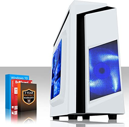Fierce GUARDIAN Ordenador de juegos - rápido AMD Ryzen 1600X 4GHz - 8GB 2133 MHz DDR4 RAM - NVIDIA GeForce GTX 1050 Ti 4GB - (384714): Amazon.es: Informática