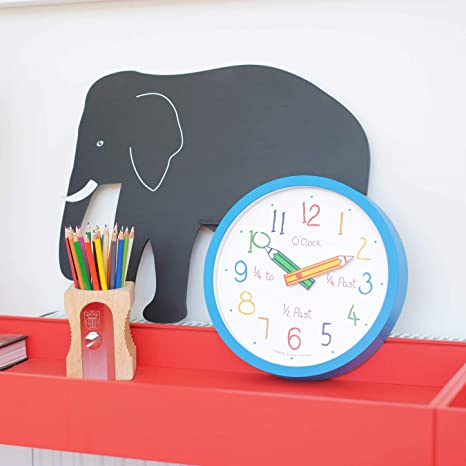 London Clock Reloj De Pared Con Caja Para Colorear Color Azul 255 X 255 X 4 Cm