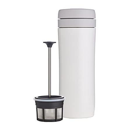 9c333eeaa1d Amazon.com: Espro Travel Coffee Press, Stainless Steel, 12 oz (Bright  White): Kitchen & Dining